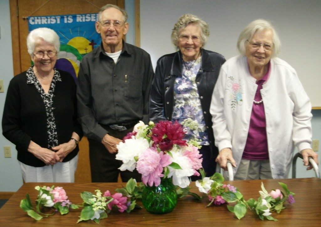 left to right - Barbara Lamore, Edwin Nelson, Ruth Tatham, Virginia Elms