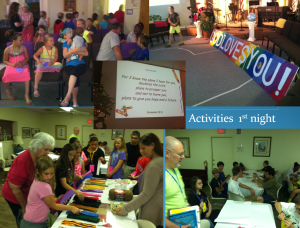 VBS first night activity