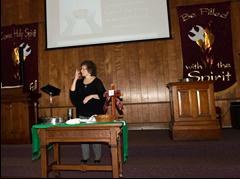 Mary preaching