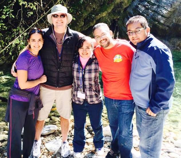 Mexico camp Hayde Romo, Elizabeth, Anthony, Samuel Mercado and Natanael Cruz