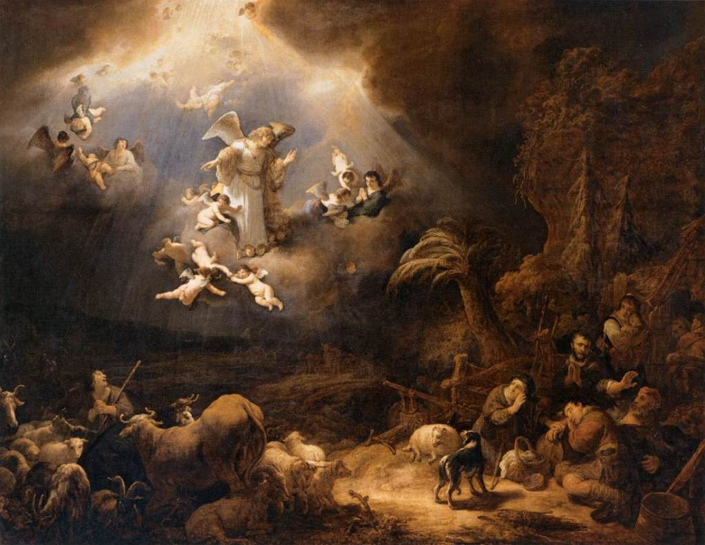Angels Announcing Christ's Bith to the Shepherds by Govert Flinck