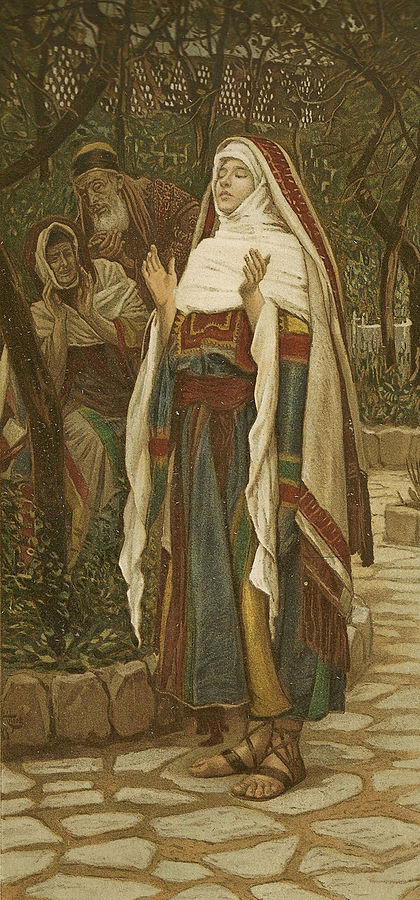 The Magnificat by James Tissot. Wikimedia Commons.