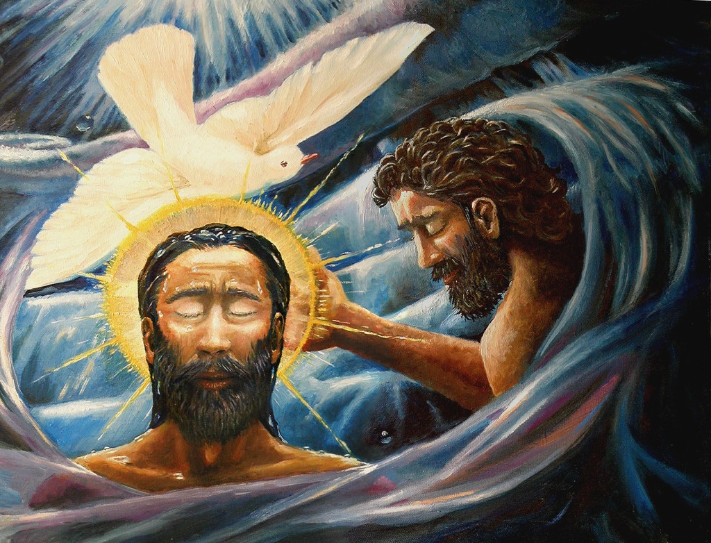 Baptism of Christ by Davezelenka (2005). Creative Commons, used by permission.