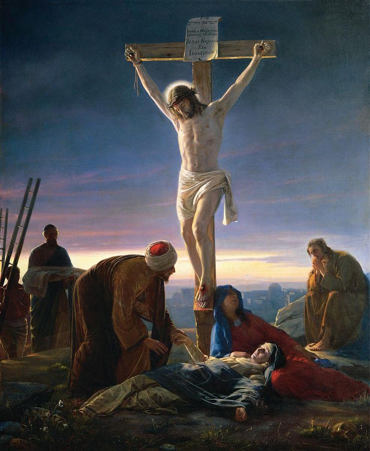 Christ at the Cross by Carl Heinrich Bloch (1834–1890). Public Domain (Wkimedia Commons)