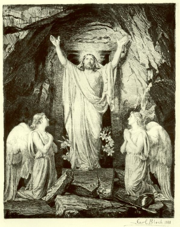 resurrection of Christ Carl Heinrich Bloch public domain