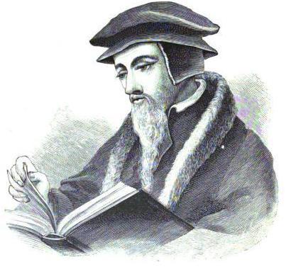 John Calvin line drawing Public Domain via Wikimedia Commons