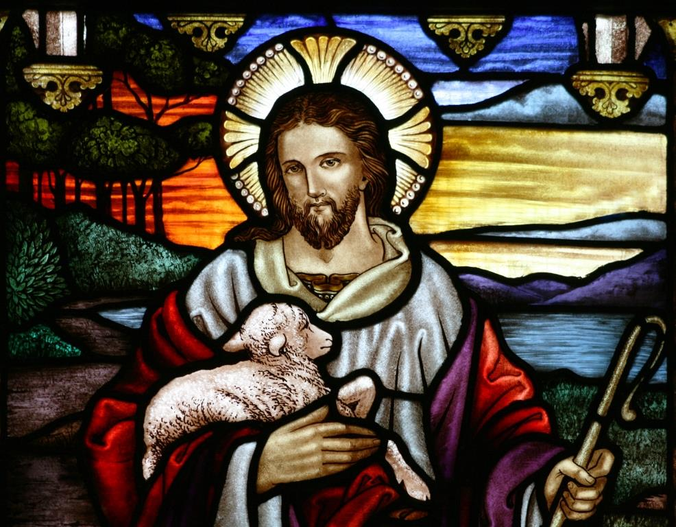 Good Shepherd (stained glass window at St. Johns Ashfield used with permission Wikimedia commons