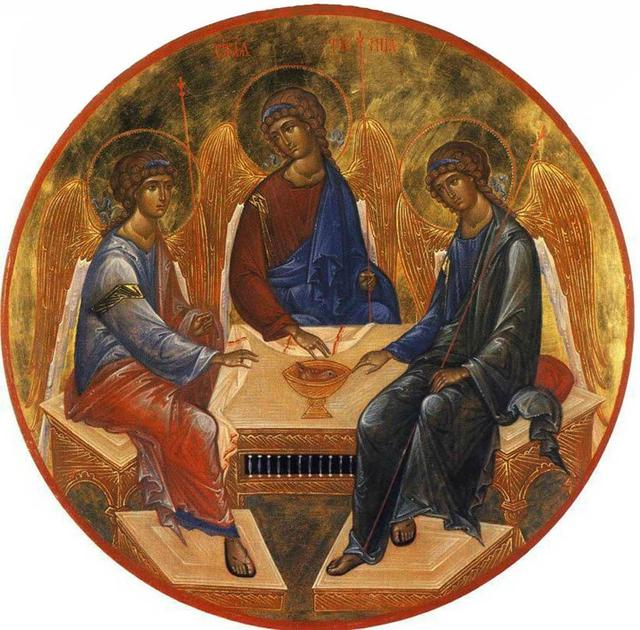 Trinity by Andrei Rublev Wikimedia Commons (public domain)