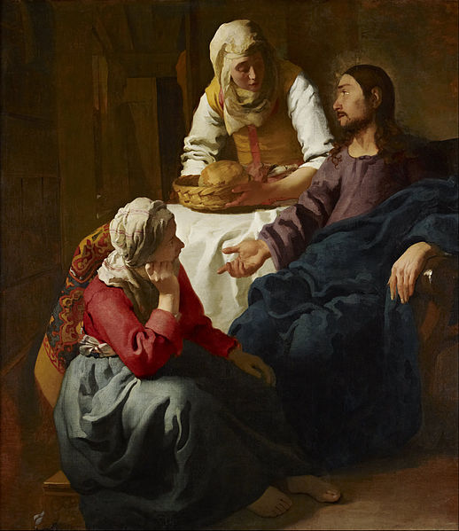 Christ in the house of Martha and Mary by Johannes Vermeer (public domain via Wikimedia Commons)