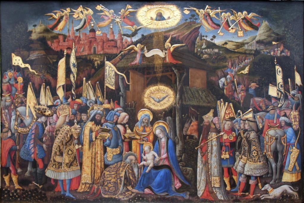 Adoration of the Magi by Antonio Vivarini (1418) (public domain via Wkimedia Commons)