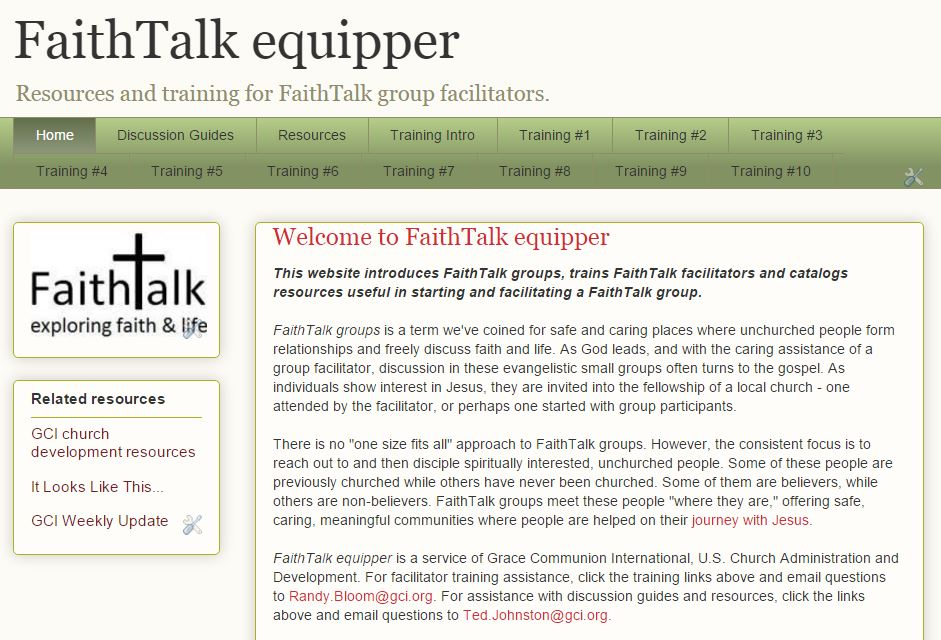 FaithTalk Equipper
