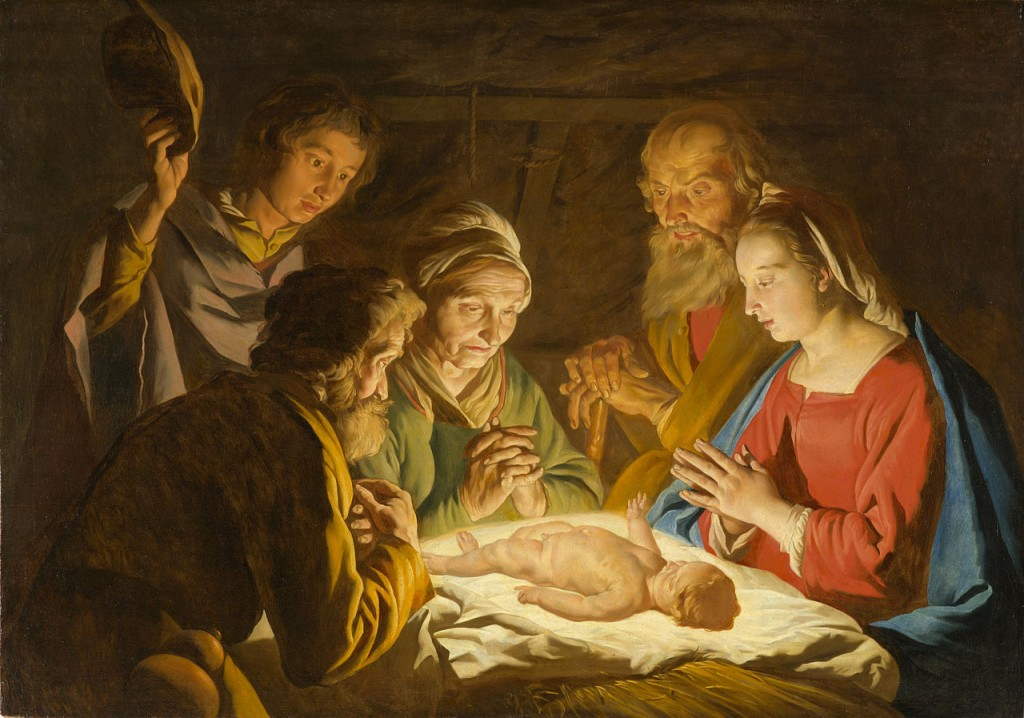 The Adoration of the Shepherds by Matthias Stom Stomer (public domain fia Google Cultural Instittue)