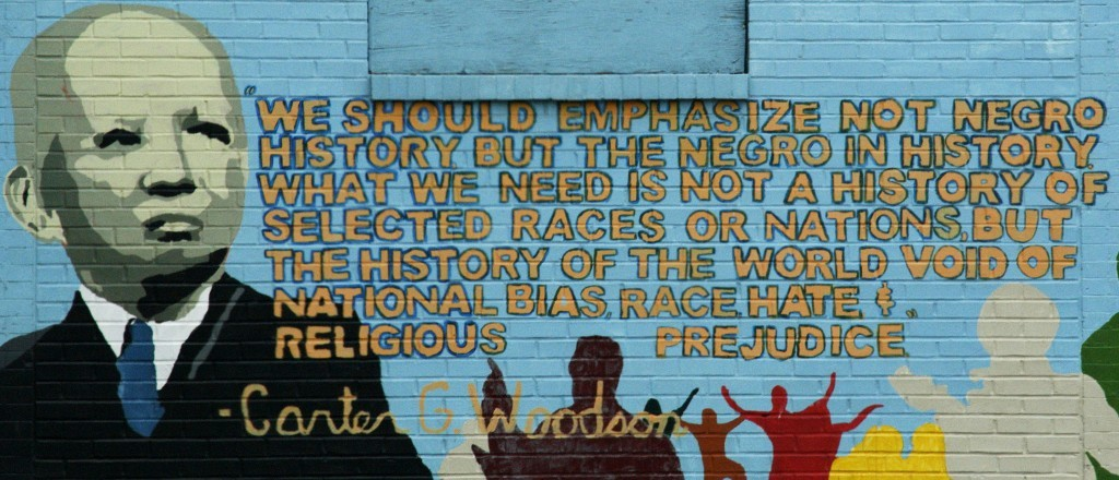 The father of Black History Month, Carter G. Woodson, is honored in this mural in Washington, D.C.