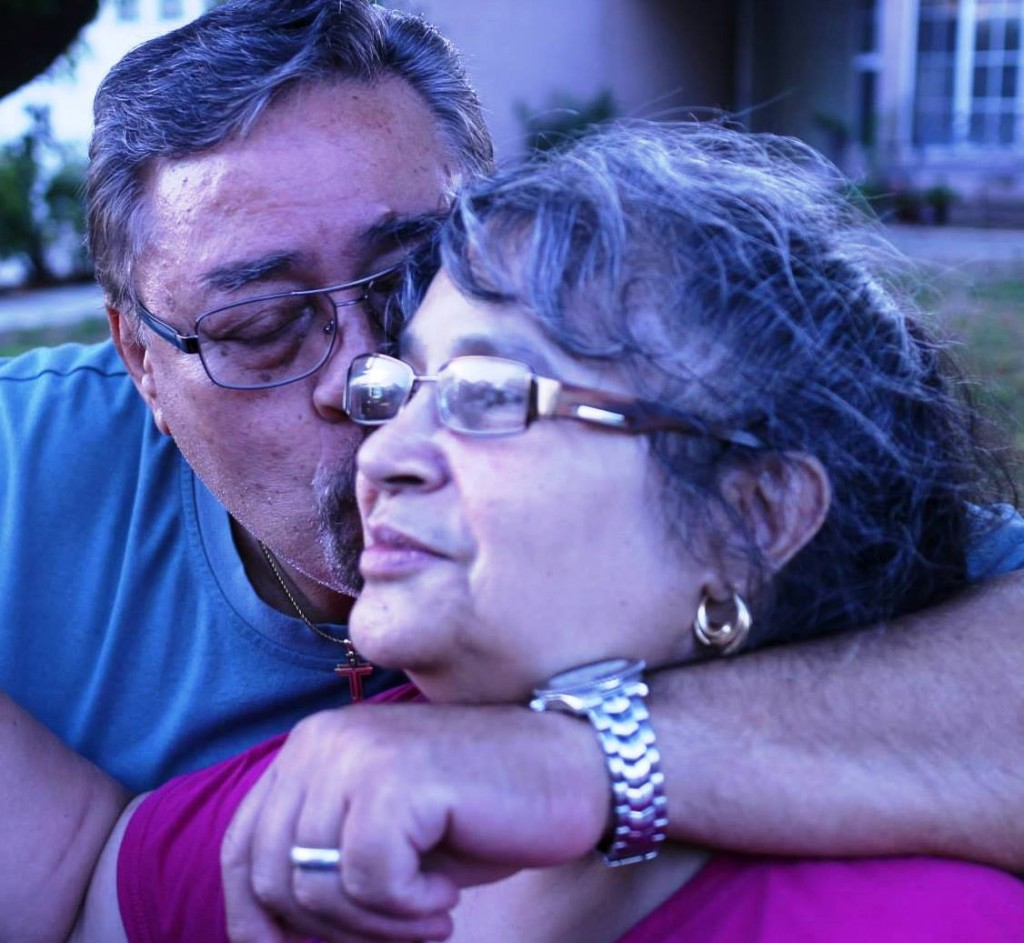 Raul with his mother