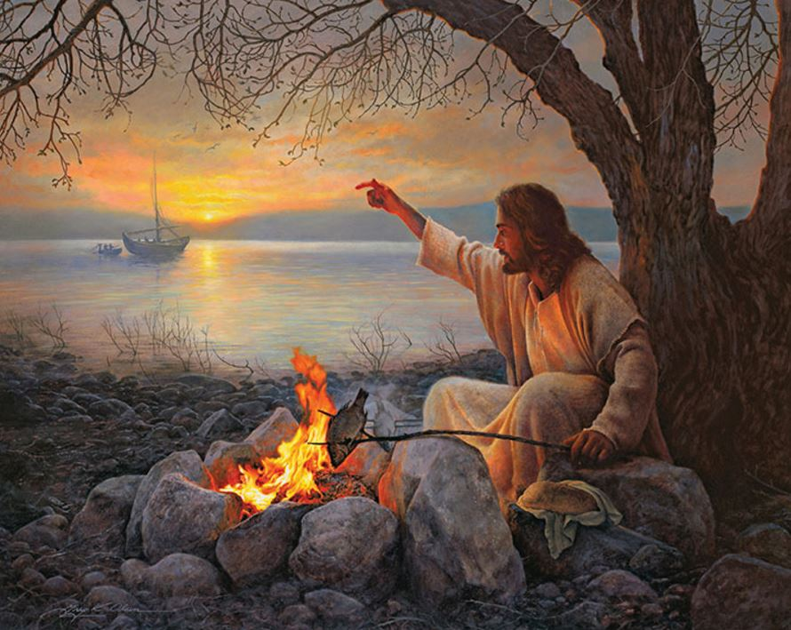 Cast your nets on the right side by Greg Olsen