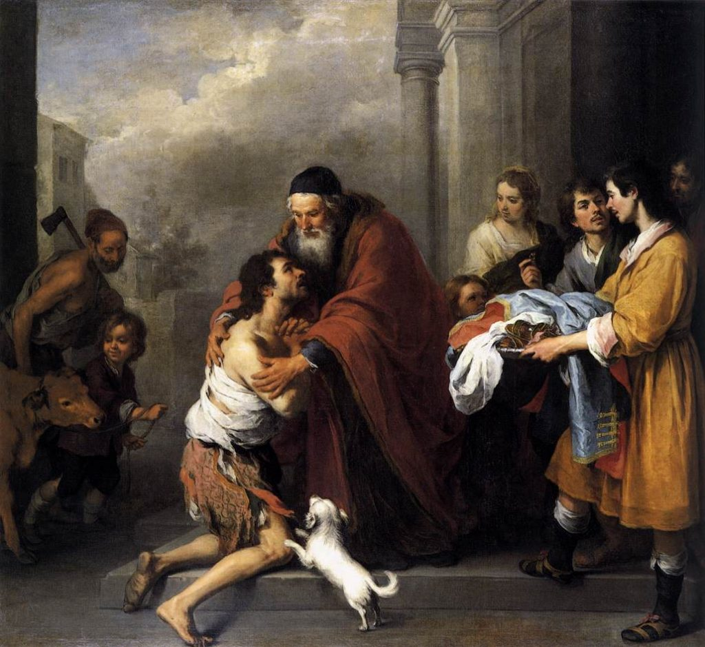 Return of the Prodigal Son by Murillo (public domain via Wikimedia Commons)