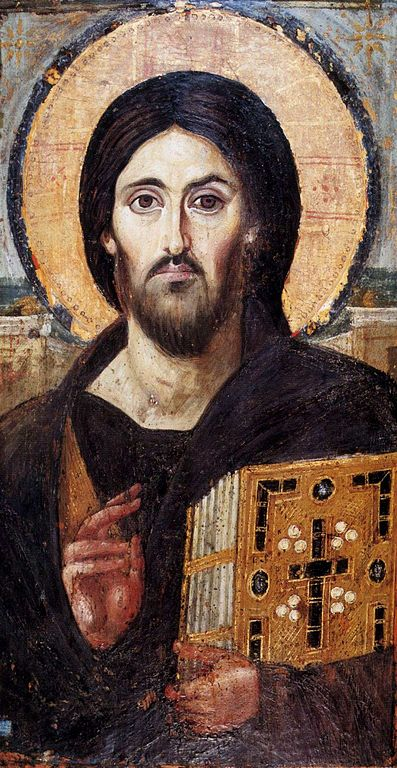 Christ Pantocrator (St Catherines Monastary) (public domain via Wikimedia Commons)