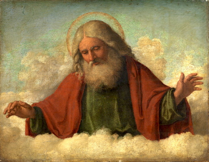 God the Father by Conegliano (1515). (public domain via Wikimedia Commons)
