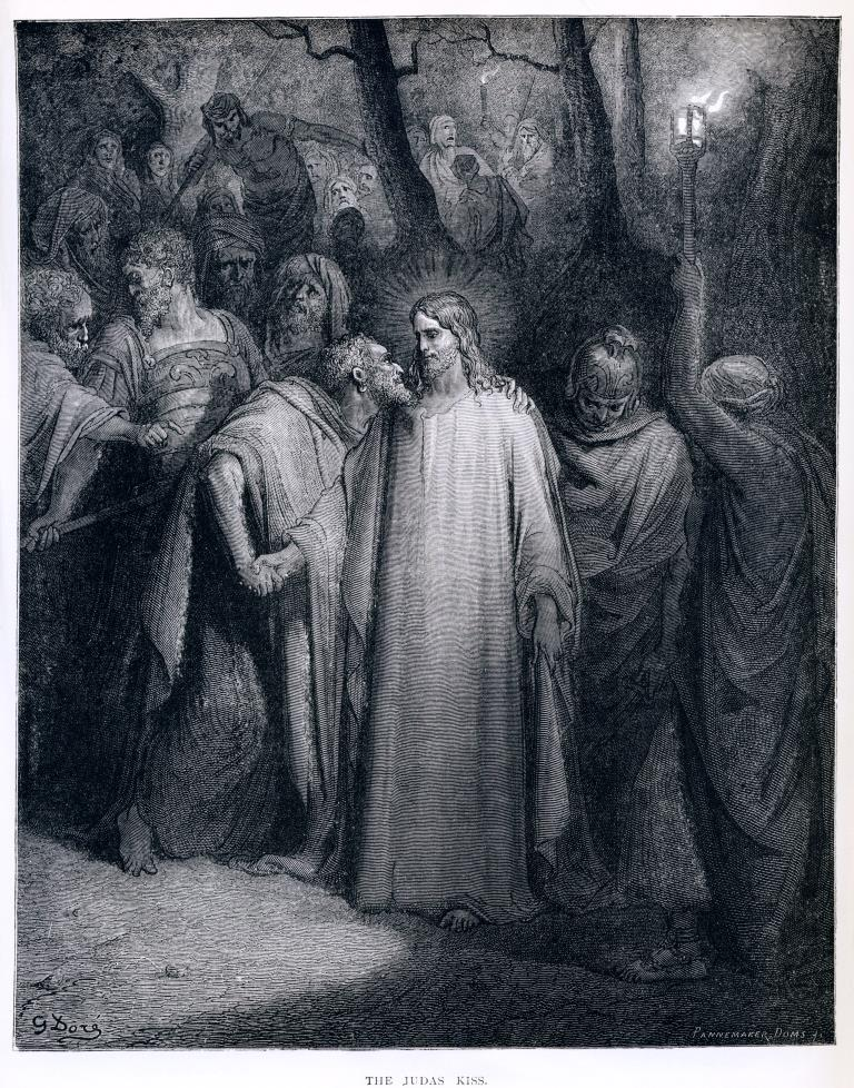 gustave_dore_the_judas_kiss
