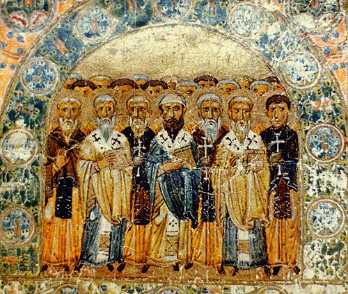 Icon of the Church Fathers (public domain via Wikimedia Commons)