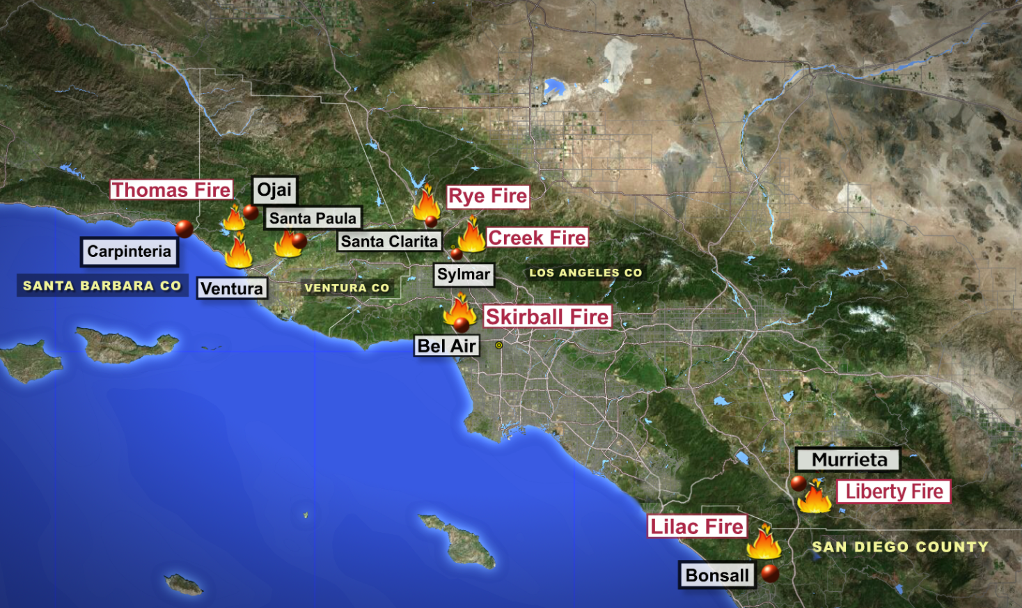 Socal Wildfires Gci Update