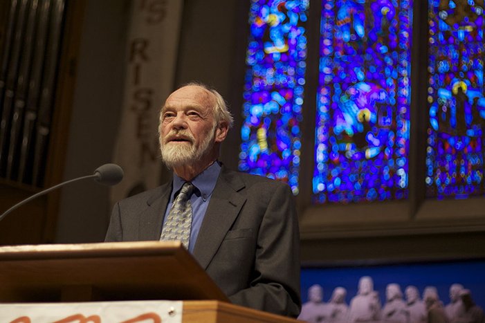 Eugene Peterson lecture at University Presbyterian Church in Seattle, Washington sponsored by the Seattle Pacific University Image Journal