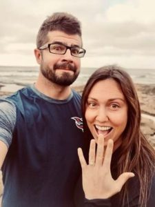 engagement photo of Mathew Morgan and his new fiancee Natalie