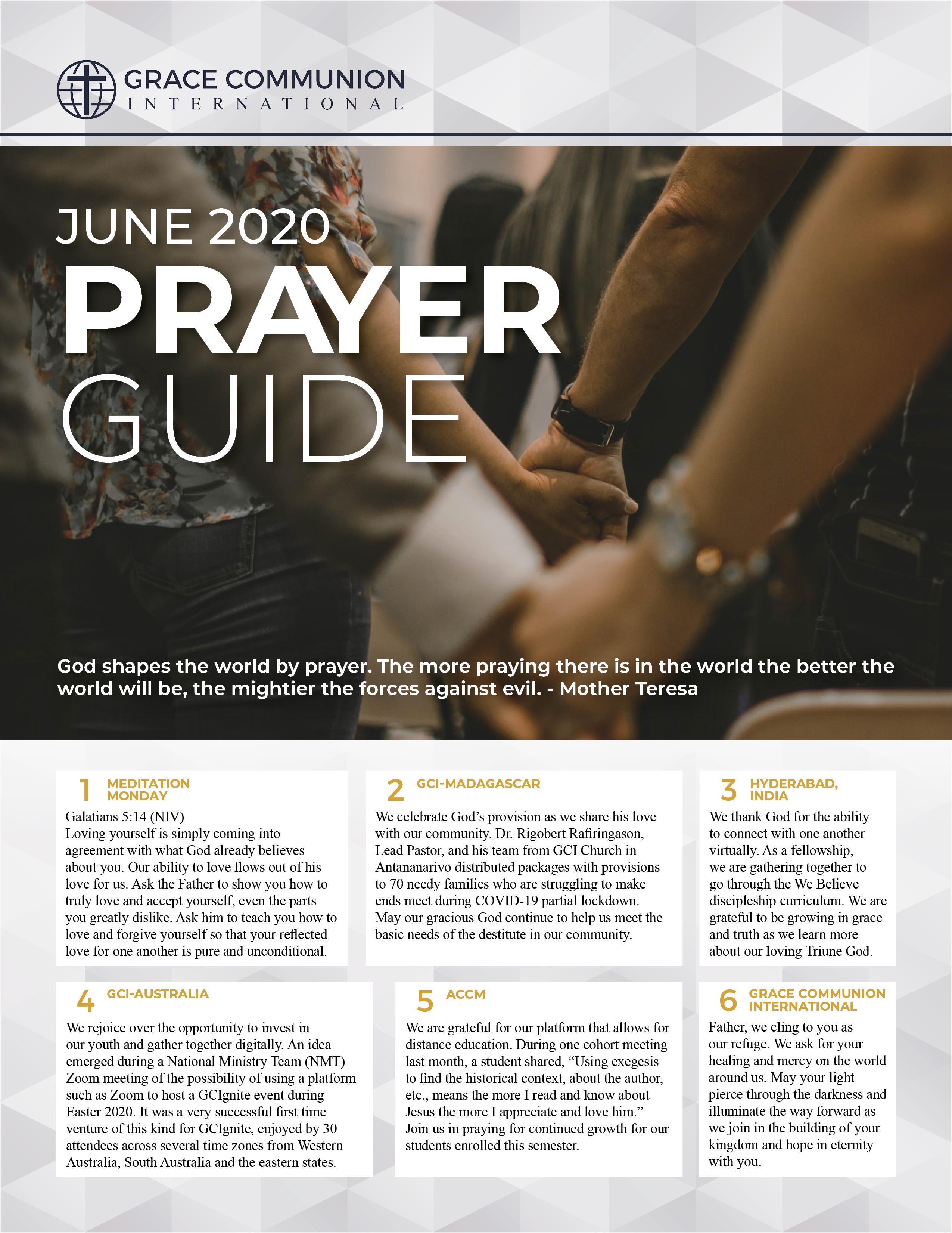GCI Prayer Guide